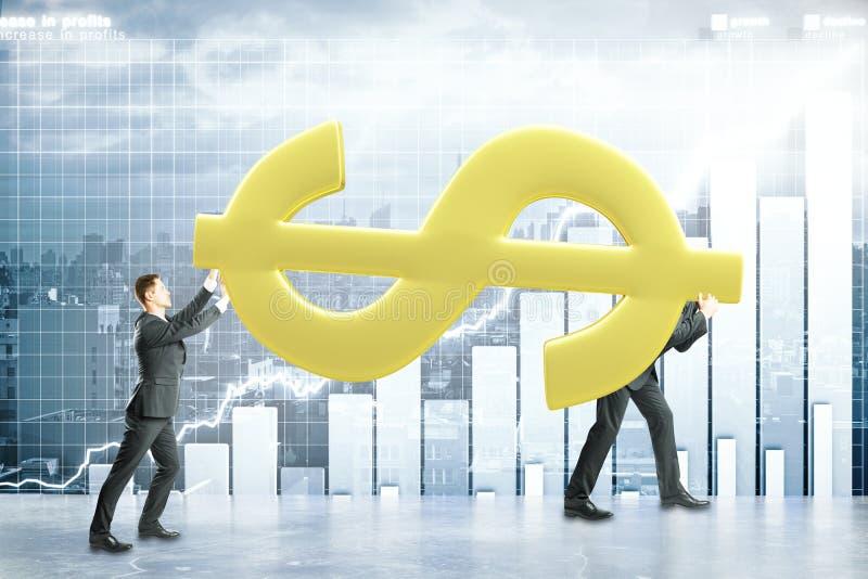 Ομαδική εργασία και οικονομική έννοια αύξησης απεικόνιση αποθεμάτων