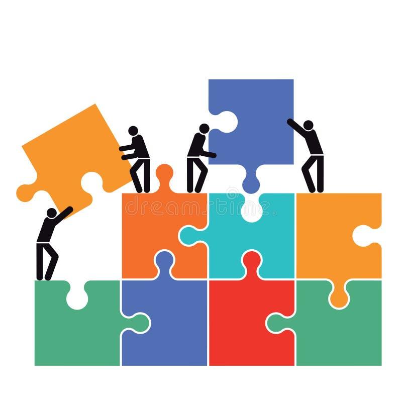 Ομαδική εργασία και συνεργασία ελεύθερη απεικόνιση δικαιώματος