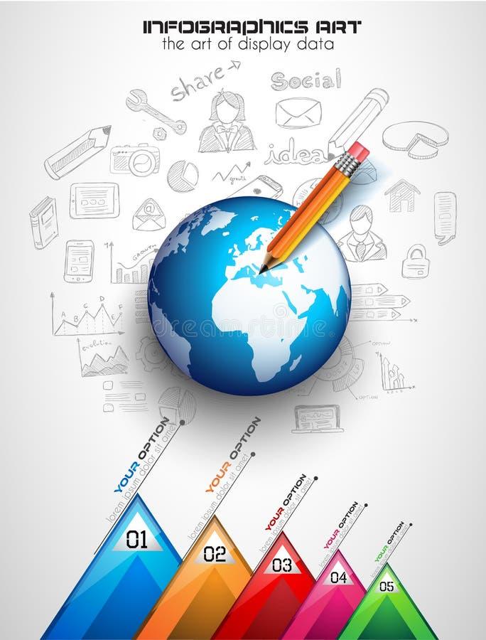 Ομαδική εργασία και 'brainstorming' Infographic με τα σκίτσα διανυσματική απεικόνιση