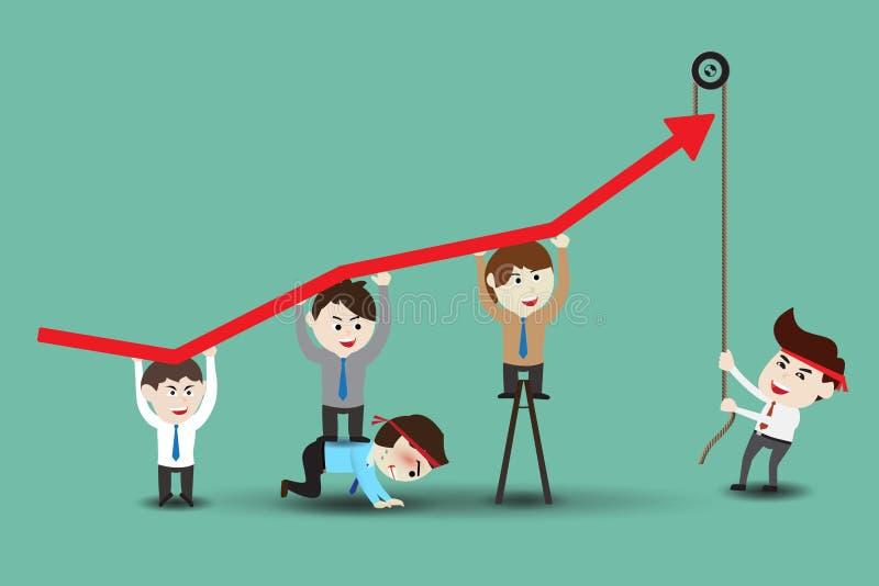 Ομαδική εργασία στην επιτυχή επιχείρηση διανυσματική απεικόνιση