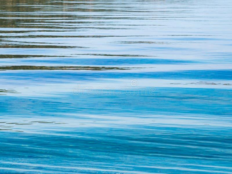 Ομαλοί μπλε κυματισμοί στο νερό στοκ εικόνες