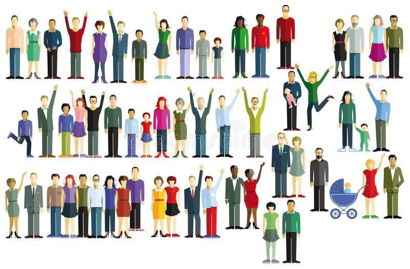 ομαδοποιήστε τους ανθ&r ελεύθερη απεικόνιση δικαιώματος