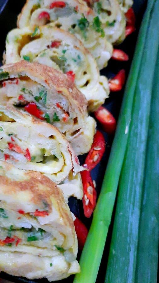 Ομελέτα Λαχανικών Με Ζεστό Αυγό στοκ φωτογραφία
