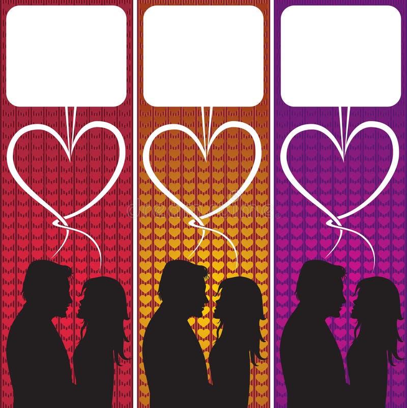 ομιλία αγάπης φυσαλίδων διανυσματική απεικόνιση