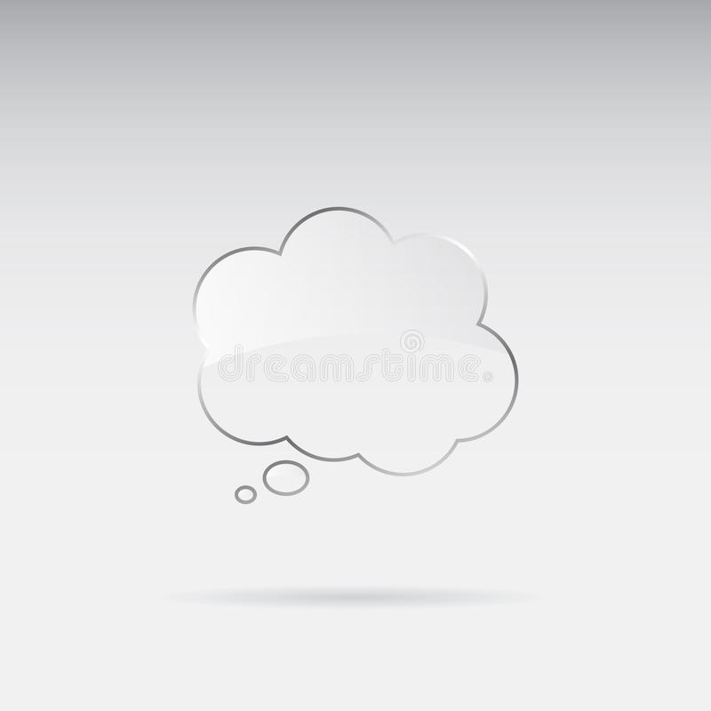 ομιλία γυαλιού φυσαλίδ&o ελεύθερη απεικόνιση δικαιώματος