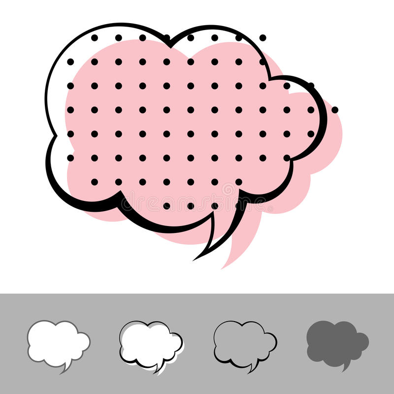 ομιλία μπαλονιών διανυσματική απεικόνιση