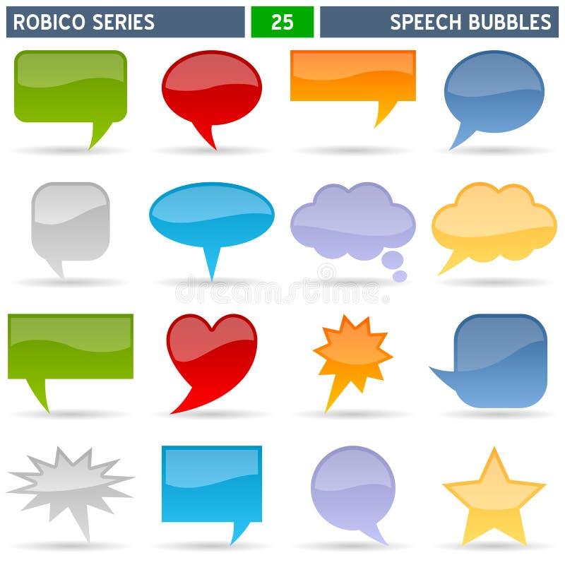 ομιλία σειράς robico φυσαλίδ&omega διανυσματική απεικόνιση