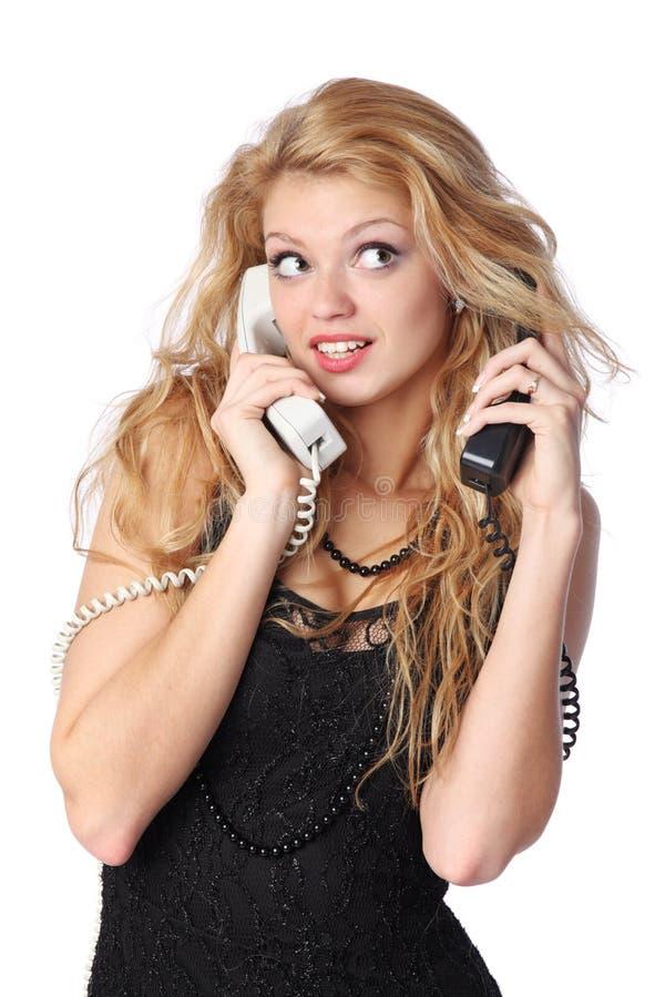 Ομιλία στο τηλέφωνο στοκ φωτογραφία με δικαίωμα ελεύθερης χρήσης