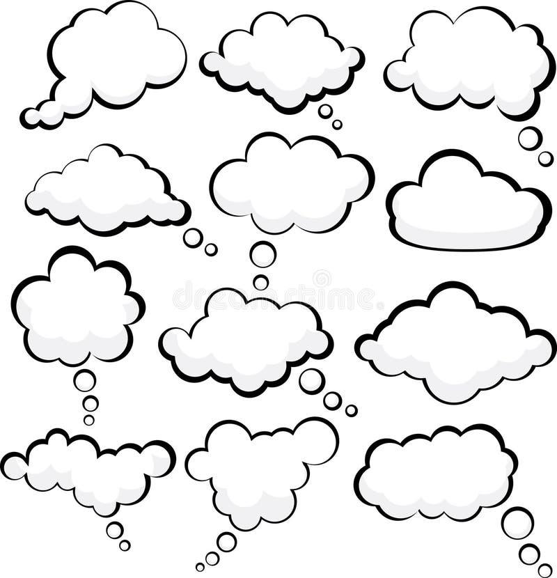 ομιλία σύννεφων διανυσματική απεικόνιση