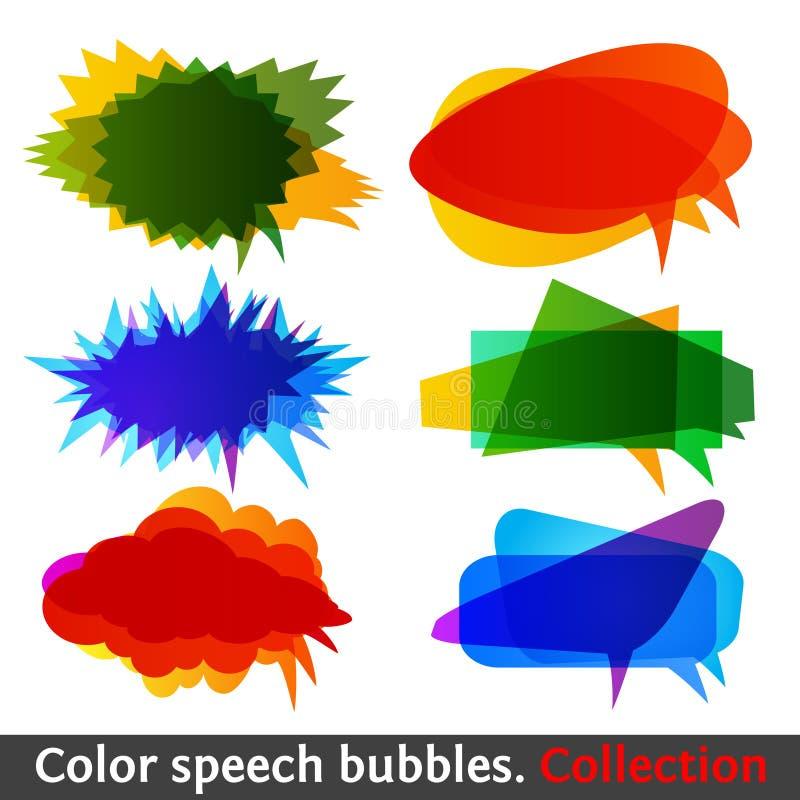 ομιλία χρώματος eps10 συλλο&g απεικόνιση αποθεμάτων
