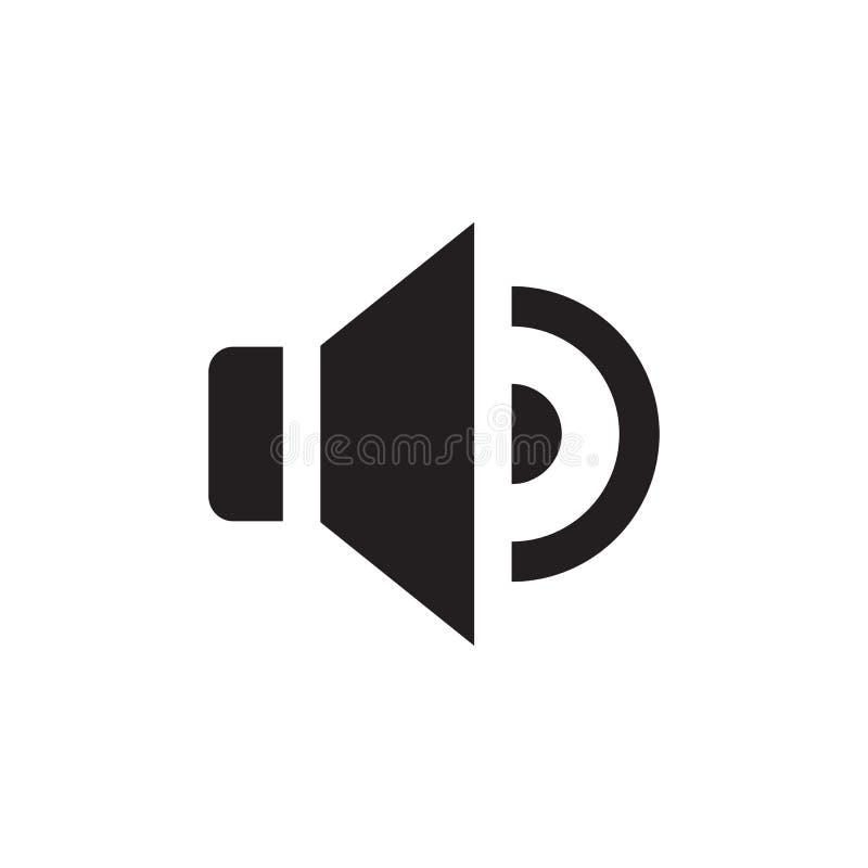Ομιλητής - μαύρο εικονίδιο στην άσπρη διανυσματική απεικόνιση υποβάθρου για τον ιστοχώρο, κινητή εφαρμογή, παρουσίαση, infographi ελεύθερη απεικόνιση δικαιώματος