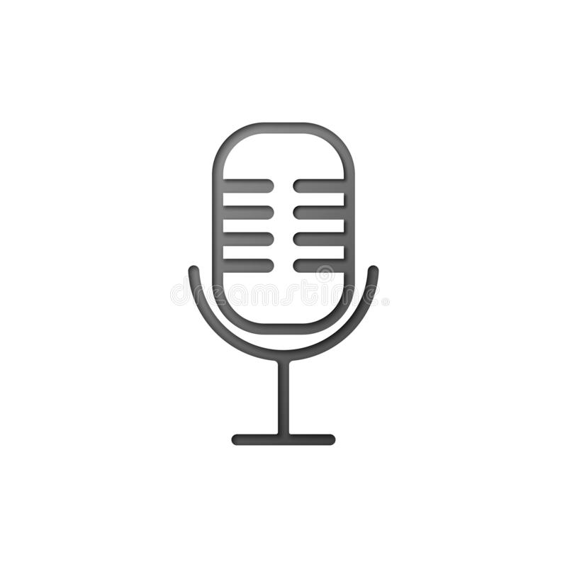Ομιλητής μικροφώνων στο άσπρο υπόβαθρο Αναγνώριση φωνής επίσης corel σύρετε το διάνυσμα απεικόνισης απεικόνιση αποθεμάτων