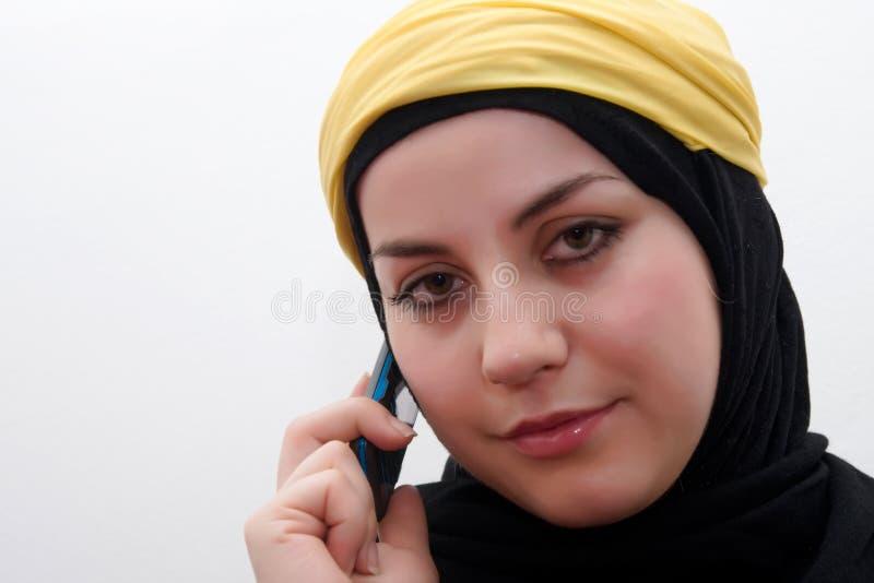 ομιλούσα γυναίκα Ισλάμ στοκ εικόνες