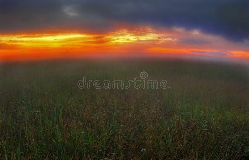 ομιχλώδες Ρωσία ηλιοβα&si στοκ φωτογραφίες