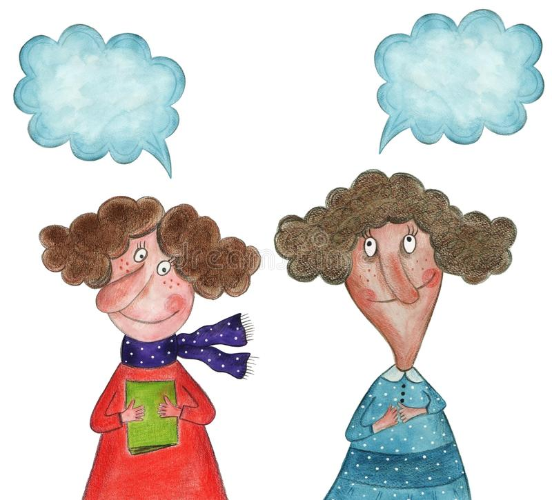 Ομιλία κοριτσιών ελεύθερη απεικόνιση δικαιώματος