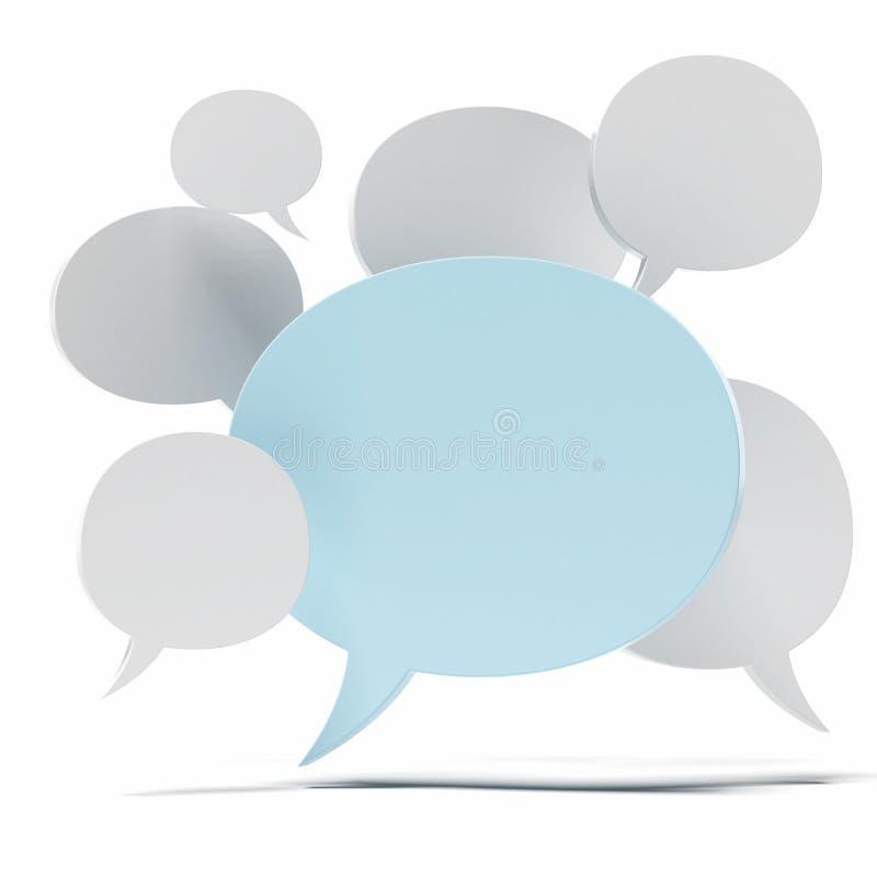 Ομιλίες φυσαλίδων διανυσματική απεικόνιση