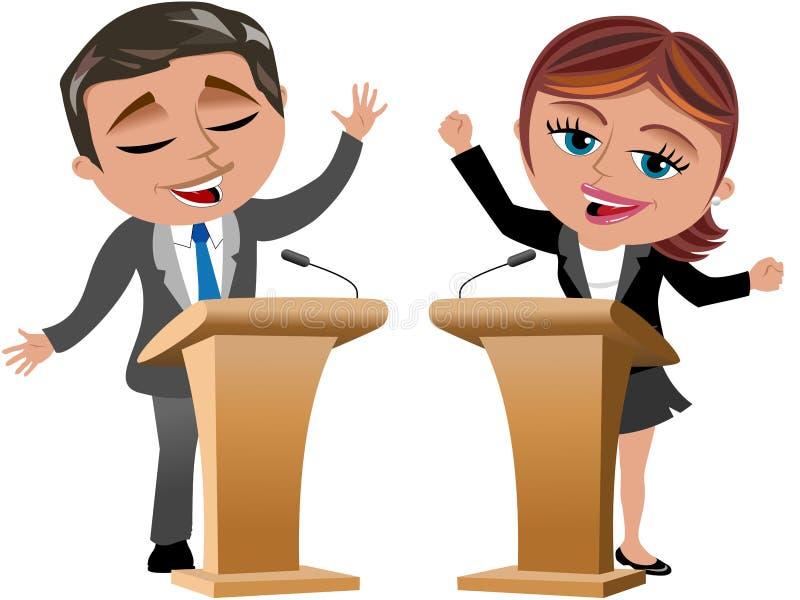 Ομιλητές ανδρών και γυναικών απεικόνιση αποθεμάτων