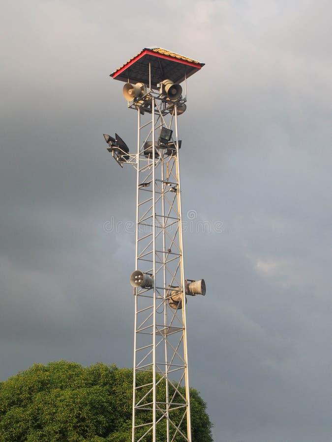 Ομιλητές και επίκεντρα στον πύργο στοκ εικόνα