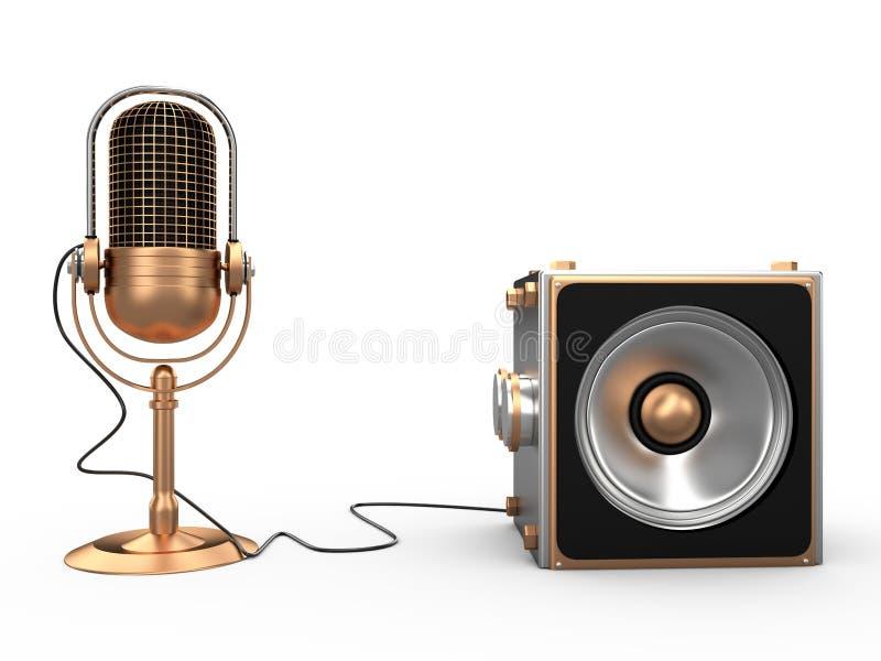 Ομιλητής και μικρόφωνο, τρισδιάστατοι απεικόνιση αποθεμάτων