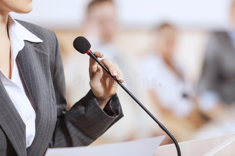 Ομιλητής στο στάδιο στοκ φωτογραφία