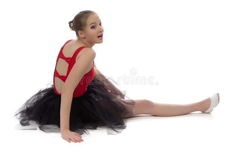 Ομιλούσα πλάτη συνεδρίασης ballerina στοκ φωτογραφία