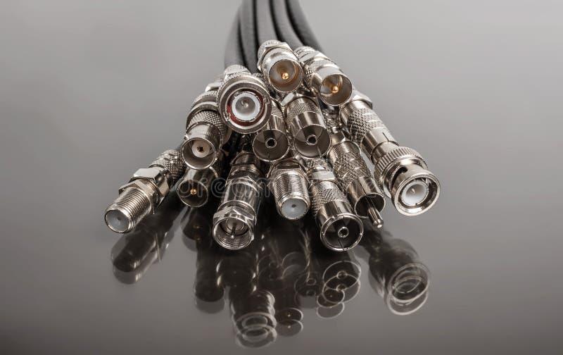 Ομοαξονικοί συνδετήρες στοκ εικόνα με δικαίωμα ελεύθερης χρήσης