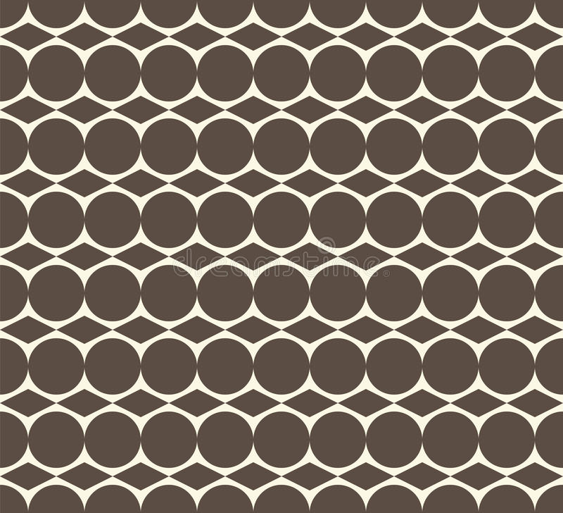 Ομοιόμορφο αφηρημένο υπόβαθρο με τους κύκλους και το ρόμβο απεικόνιση αποθεμάτων