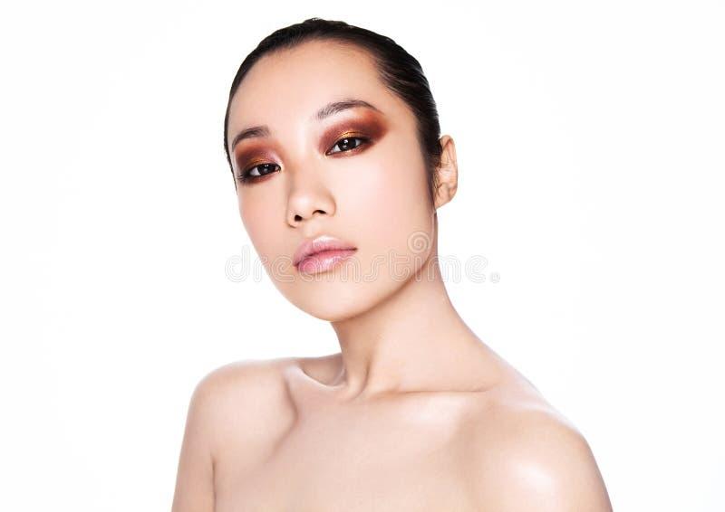 Ομορφιάς ασιατικό γυναικών πορτρέτο makeup υγείας καλλυντικό στοκ εικόνες