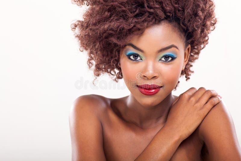 Ομορφιά αφροαμερικάνων στοκ φωτογραφία με δικαίωμα ελεύθερης χρήσης