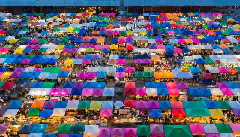 Ομορφιά ελεύθερης αγοράς άποψης της Μπανγκόκ της εναέριας στοκ εικόνες με δικαίωμα ελεύθερης χρήσης