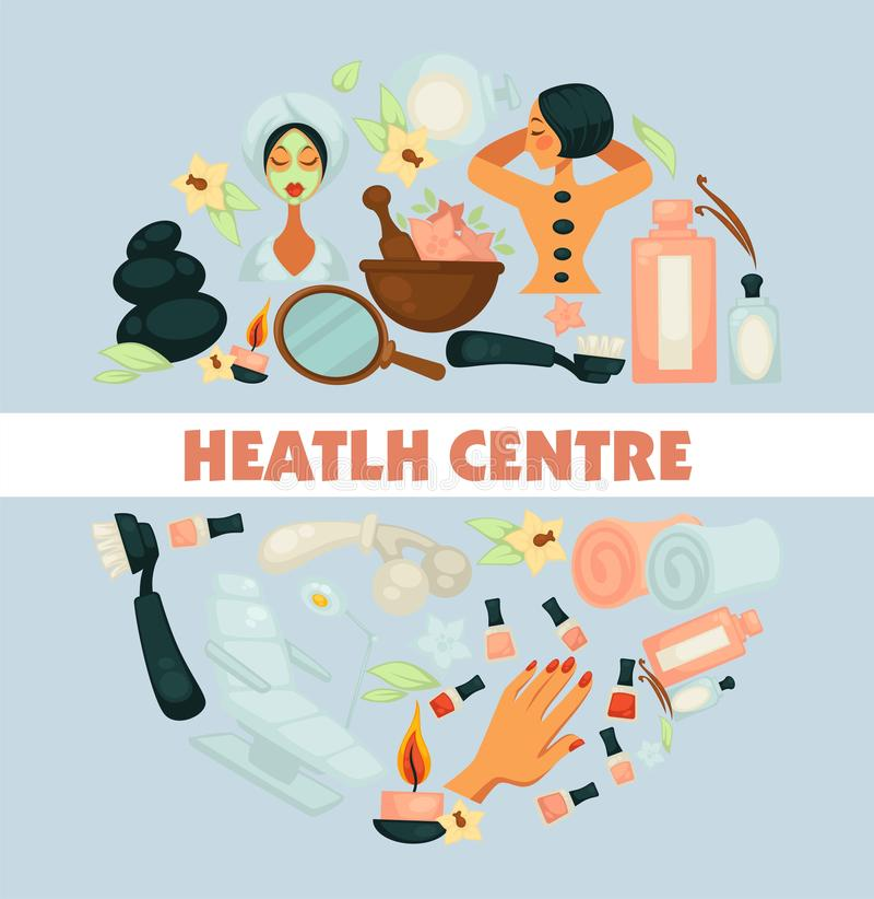Ομορφιά κέντρων υγείας και διαδικασίες και μανικιούρ SPA skincare ελεύθερη απεικόνιση δικαιώματος