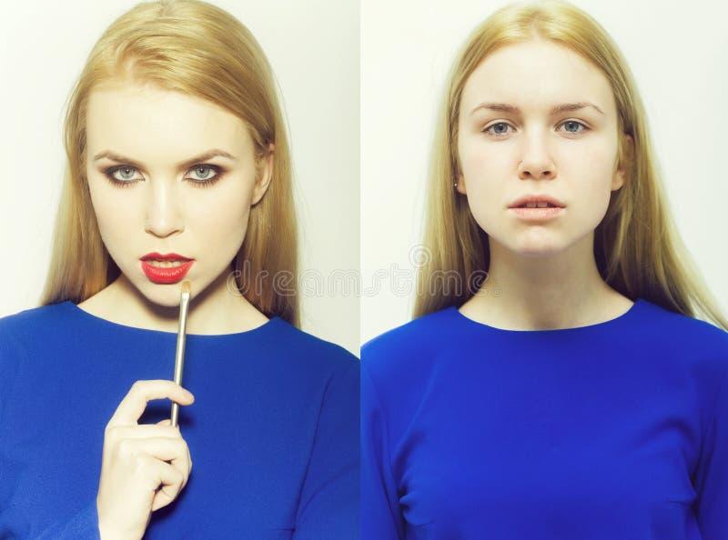 Ομορφιά και μόδα, makeup και visage, hottie και nottie στοκ φωτογραφία με δικαίωμα ελεύθερης χρήσης