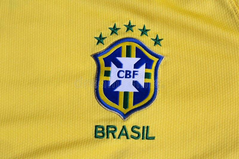 Ομοσπονδία κίτρινο Τζέρσεϋ ποδοσφαίρου της Βραζιλίας στοκ εικόνα με δικαίωμα ελεύθερης χρήσης