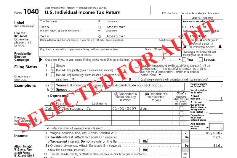 ομοσπονδιακός επιστροφής φόρος επιθεώρησης στοκ φωτογραφία με δικαίωμα ελεύθερης χρήσης