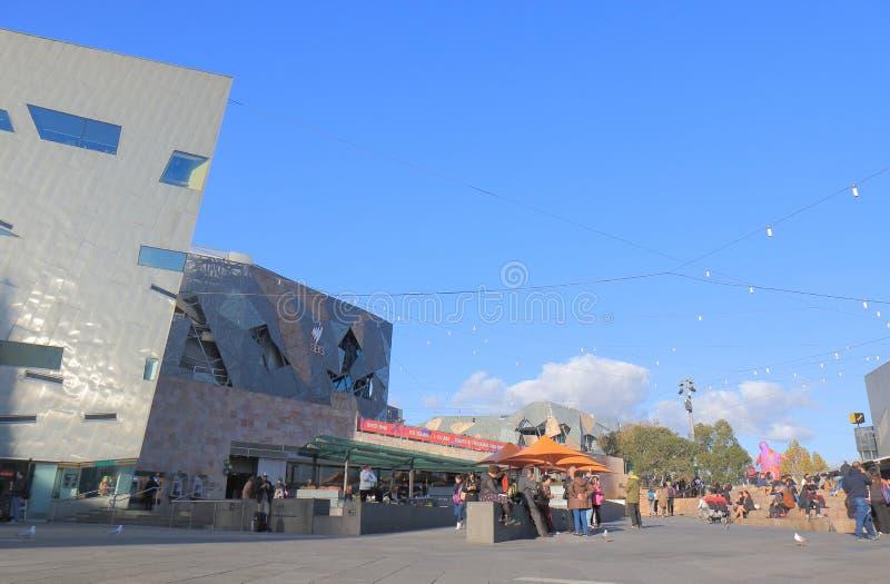 Ομοσπονδία τετραγωνική Μελβούρνη Αυστραλία στοκ φωτογραφίες