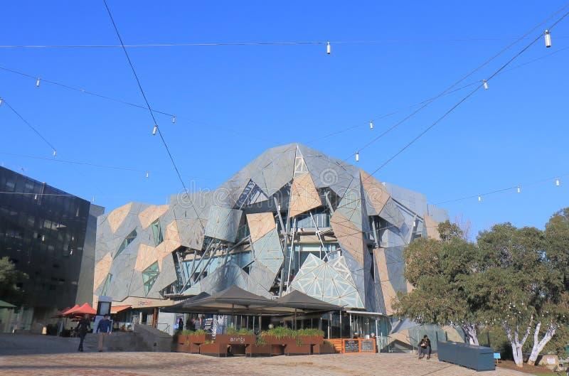Ομοσπονδία τετραγωνική Μελβούρνη Αυστραλία στοκ εικόνες