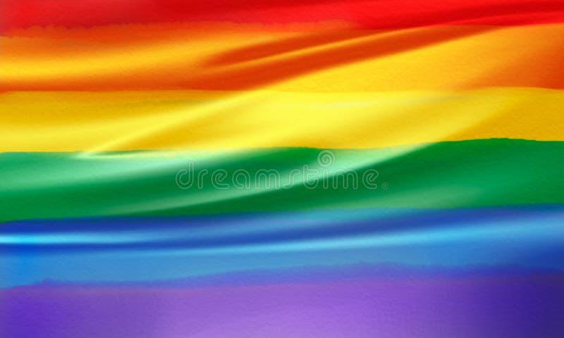 Ομοφυλοφιλική σημαία υπερηφάνειας σημαία-ουράνιων τόξων ουράνιων τόξων στοκ φωτογραφία