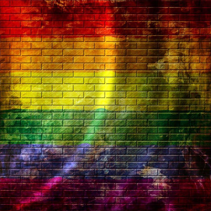 Ομοφυλοφιλική σημαία υπερηφάνειας διανυσματική απεικόνιση