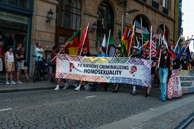 Ομοφυλοφιλική υπερηφάνεια στο Άμστερνταμ 2019 στοκ φωτογραφία