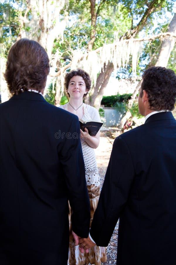 ομοφυλοφιλικός γάμος τελετής στοκ φωτογραφία