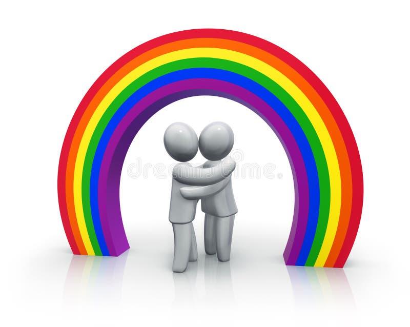 ομοφυλοφιλικός γάμος διανυσματική απεικόνιση