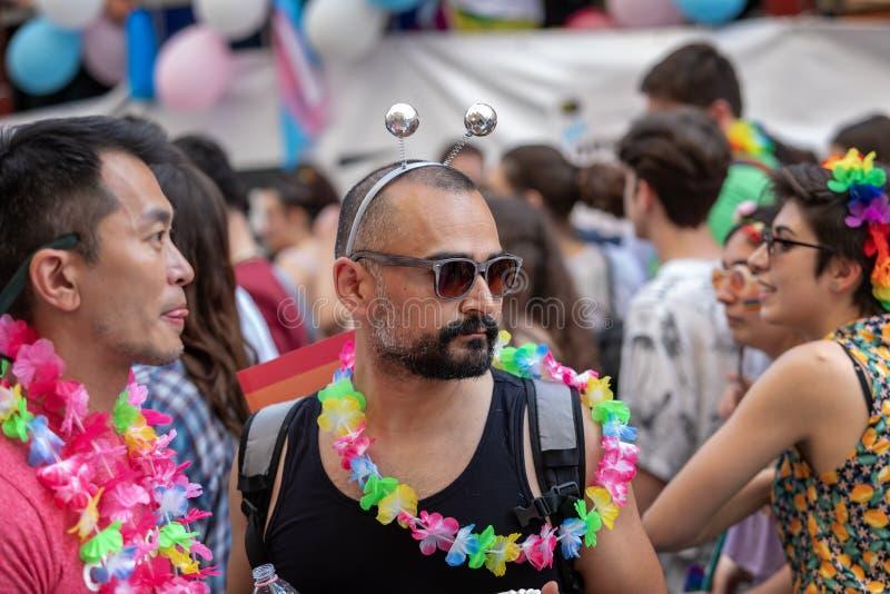 Ομοφυλόφιλη υπερηφάνεια, ομοφυλόφιλοι στην εκδήλωση στοκ εικόνες