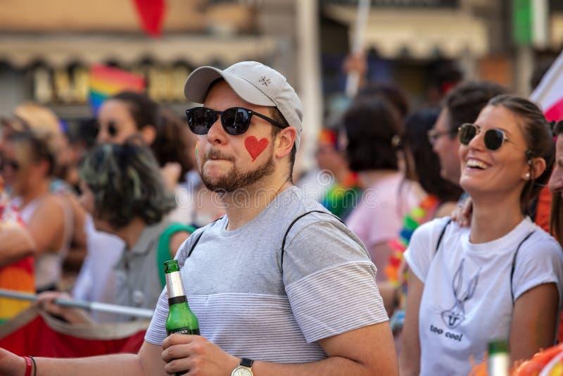 Ομοφυλόφιλη υπερηφάνεια, ομοφυλόφιλοι στην εκδήλωση στοκ εικόνες με δικαίωμα ελεύθερης χρήσης