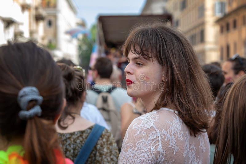 Ομοφυλόφιλη υπερηφάνεια, ομοφυλόφιλοι στην εκδήλωση στοκ φωτογραφία με δικαίωμα ελεύθερης χρήσης
