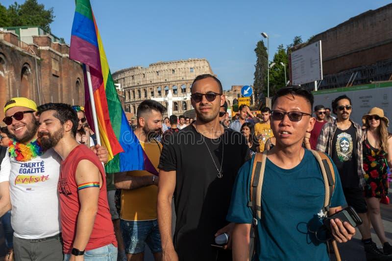 Ομοφυλόφιλη υπερηφάνεια, ομοφυλόφιλοι στην εκδήλωση στοκ φωτογραφίες