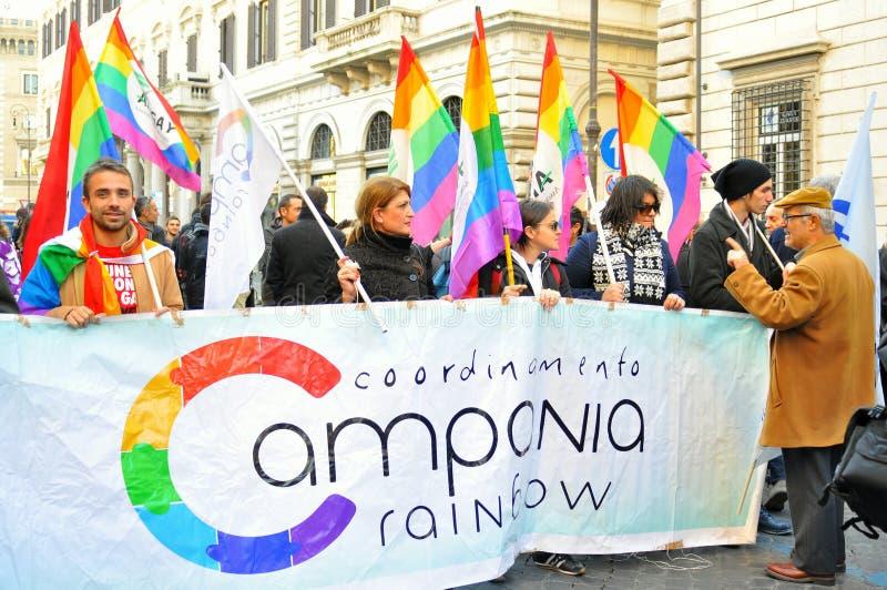 Ομοφυλοφιλικά ενεργά στελέχη σε μια εκδήλωση στην Ιταλία στοκ φωτογραφία με δικαίωμα ελεύθερης χρήσης