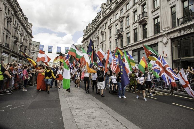 Ομοφυλοφιλική υπερηφάνεια Λονδίνο 2014 στοκ εικόνες