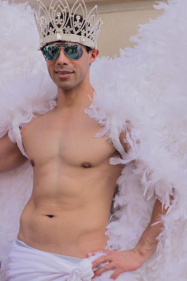 Ομοφυλοφιλικός άγγελος στοκ εικόνες