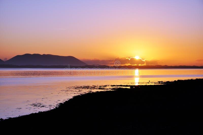 ομο ηλιοβασίλεμα ιρλα&nu στοκ φωτογραφία με δικαίωμα ελεύθερης χρήσης