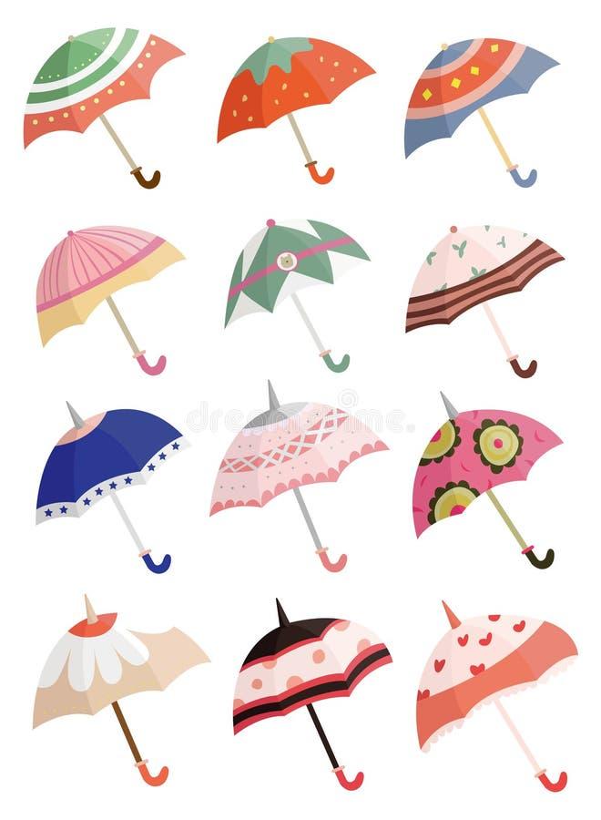 ομπρέλα εικονιδίων κινού&mu ελεύθερη απεικόνιση δικαιώματος